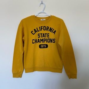 garage yellow crewneck sweatshirt